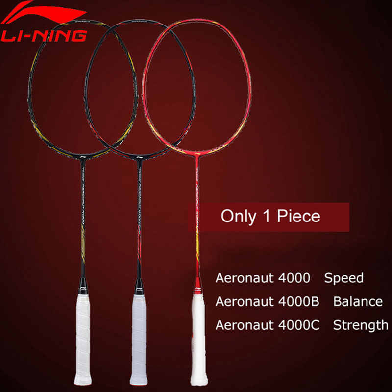 Li-Ning AERONAUT 4000/4000C/4000B Badminton Racket LiNing Single Racket No String AYPM448/AYPM444/AYPP042 ZYF313