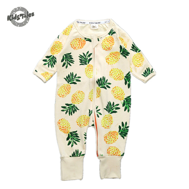 b5ff05ba6940 Kids Tales Baby Clothes Baby Romper Pineapple Autumn Girl Clothing ...