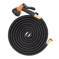 5M Hot Sale Extensible Magic Flexible Garden Hose Set with Nozzle For Garden Car Water Pipe Hoses With Spray Gun Watering Tool