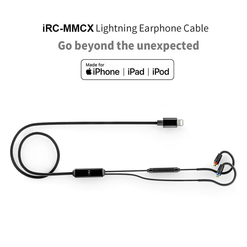 FIIO iRC MMCX-наушники кабель из для iPhone 7/7plus/8/X/XS/с В линии Conteols микрофон MMCX Съемный кабель для F9 PRO