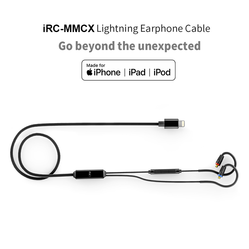 FIIO iRC MMCX Earphone Cable made for iPhone 7/7plus/8/X/XS with In line Conteols Microphone MMCX Detachable cable for F9 PRO-in Earphone Accessories from Consumer Electronics    1