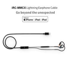 FIIO iRC-MMCX кабель для наушников для iPhone 7/7 plus/8/X/XS с четырехъядерным процессором In-line conteols микрофон Bluetooth MMCX Съемный кабель для F9 PRO