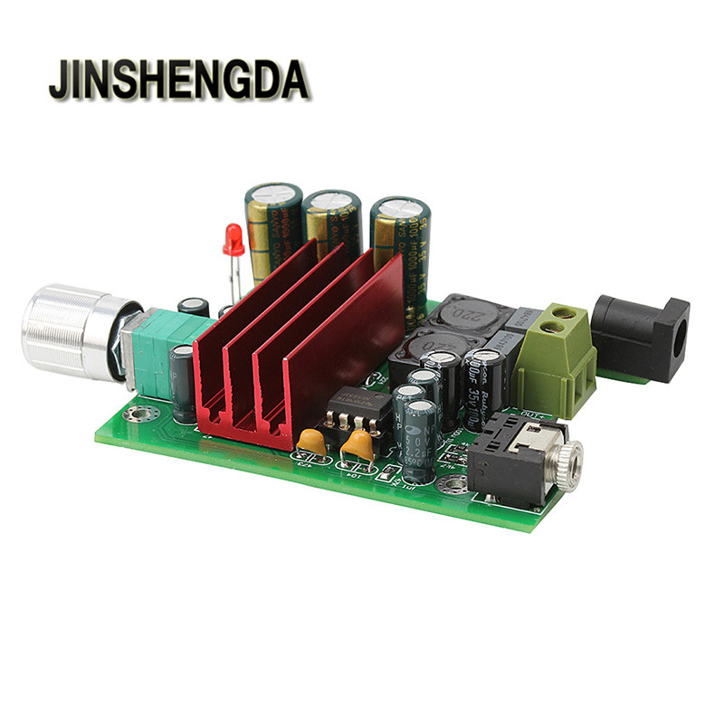 JINSHENGDA amplificador para TPA3116D2 Subwoofer amplificador Digital de potencia de 100 W AMP Junta Módulo de Audio