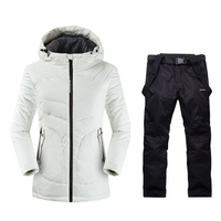 2019 Womens Mountain Skiing Outdoor Winter Warm Sport Suits Ladies Snow Clothing Ski Jacket Women Skiing Pants Long Ski Suit