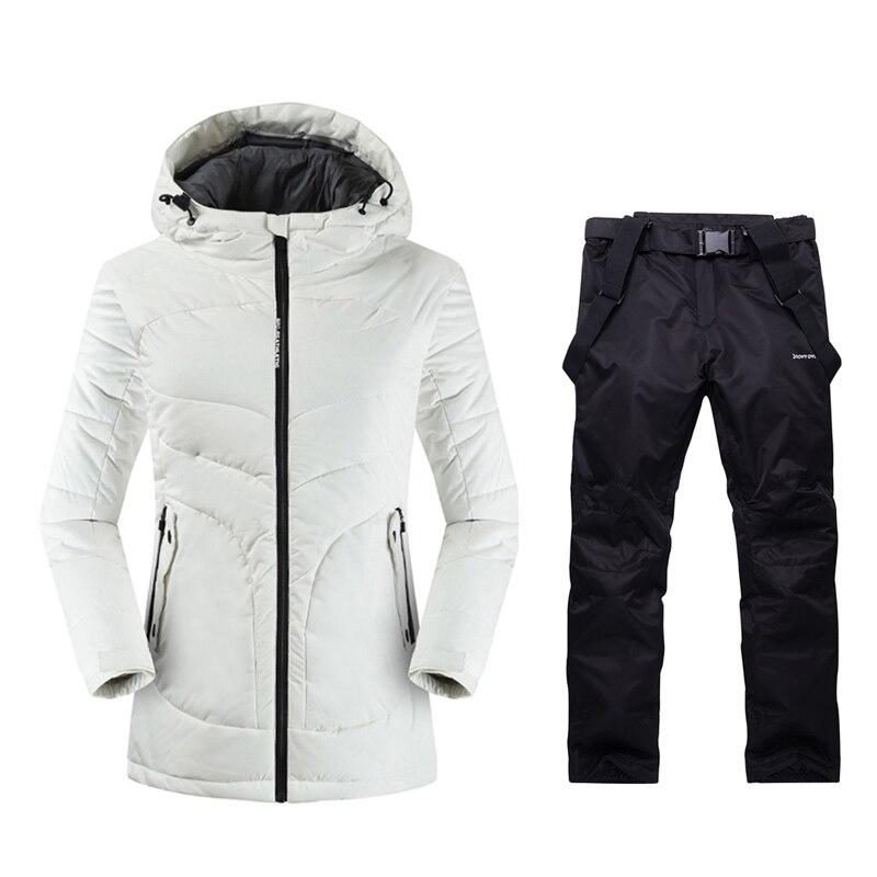 2019 femmes Ski de montagne en plein air hiver chaud Sport costumes dames neige vêtements veste de Ski femmes Ski pantalon Long Ski costume