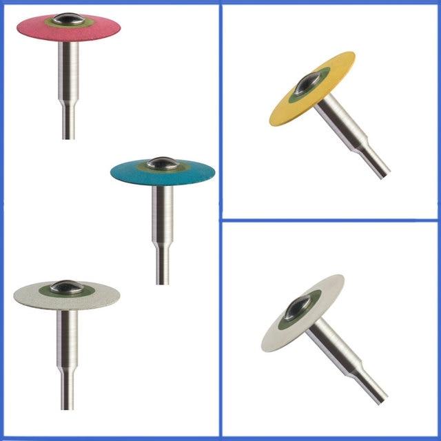 2pcs Dental Laboratory HP 19mm Diameter Filled Rubber Diamond Rolisher for Zirconia Fast Removing, Smoothing,  Polishing
