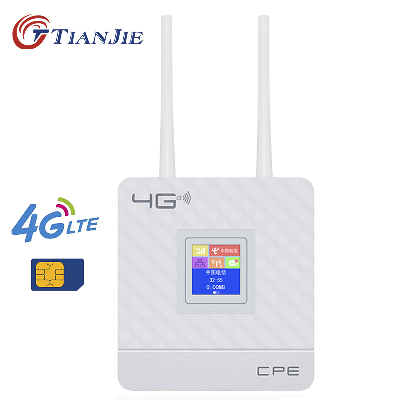 TIANJIE FDD LTE GSM 4G Wifi Router Portable Global Unlock Dongle Wireless Modem SIM Card Slot RJ45 Port