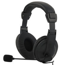 Gaming Headset Game Music Headphone Earphone with Microphone Mic 3.5mm For PC Laptop Computer Black(China)