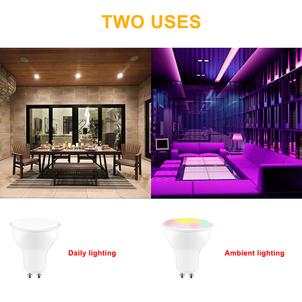 Image 4 - 8W LED RGB Light GU10 RGB LED Lamp 110V 220V LED Bulb High Power Lampada LED Lamps 16 Color Changeable With IR Remote Controller-in LED Bulbs & Tubes from Lights & Lighting
