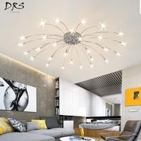 Living Room Lights Creative Art Meteor Shower Led Ceiling Lamps Led Light Fixture Kids Room Lamp Neo Gleam Plafon Led Luminaire