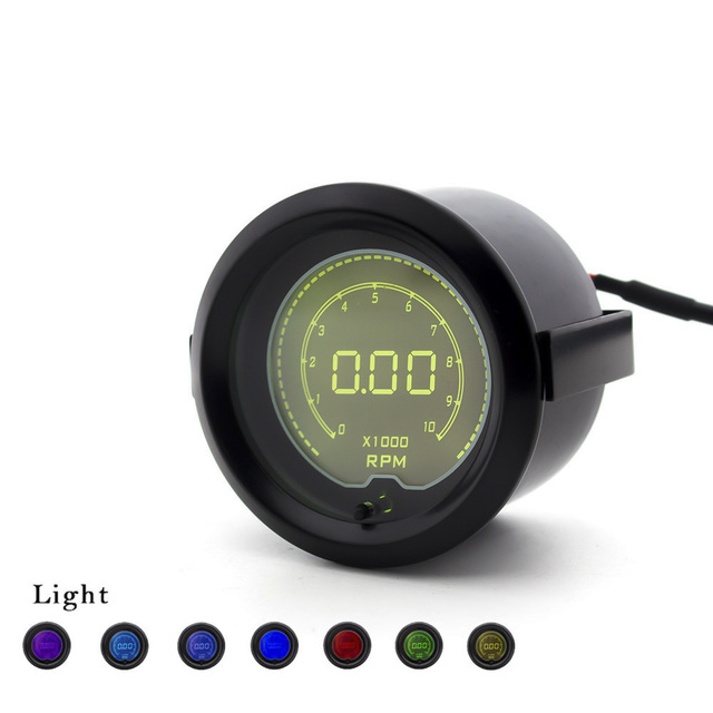 Cnspeed 7 color 52mm tachometer gauge rpm gauge meter digital cnspeed 7 color 52mm tachometer gauge rpm gauge meter digital display led light auto rpm sciox Choice Image