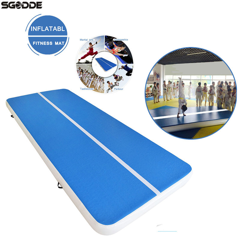 New Arrival 4/5/8M Aufblasbar Inflatable Tumble Track Trampoline Air Track Gymnastics GYM Pad Inflatable Air Mat with 220V Pump new arrival yoga mats 0 9 3m inflatable tumble track trampoline air track floor home gym gymnastics inflatable air tumbling mat