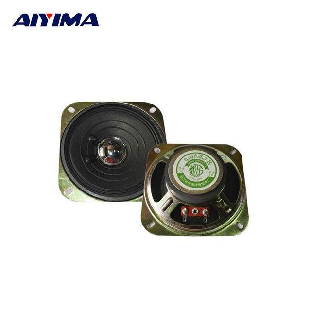 2Pcs 4Inch 8Ohm 3W Audio Subwoofer Portable Speakers Full Range High Sensitivity