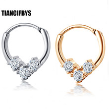 TianciFBYJS Nose Septum Ring Segment Clicker Hinged CZ Gems Ear Hoop Daith Piercing Ear Helix Cuff Ring Cartilage Tragus(China)