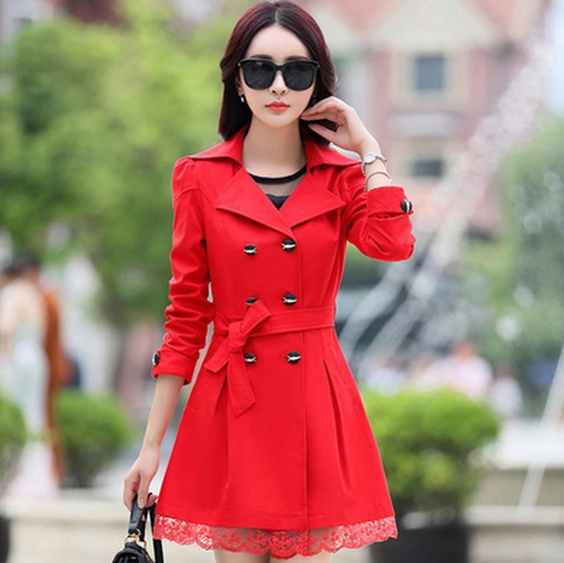 Élégant Kaki Taille M Mince Vogue G Automne rouge Ceinture Pop Femme Conception Black Longue 26 lavande xxxl Et Nouvelle Femmes Survêtement Tranchée khaki gK5fqfP