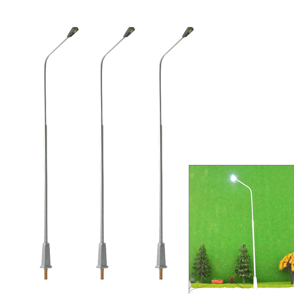 30pcs 19 5cm 1 50 architectural Modelmaking Lamppost Model Railway Street Lightingscale model Metal copper Streets