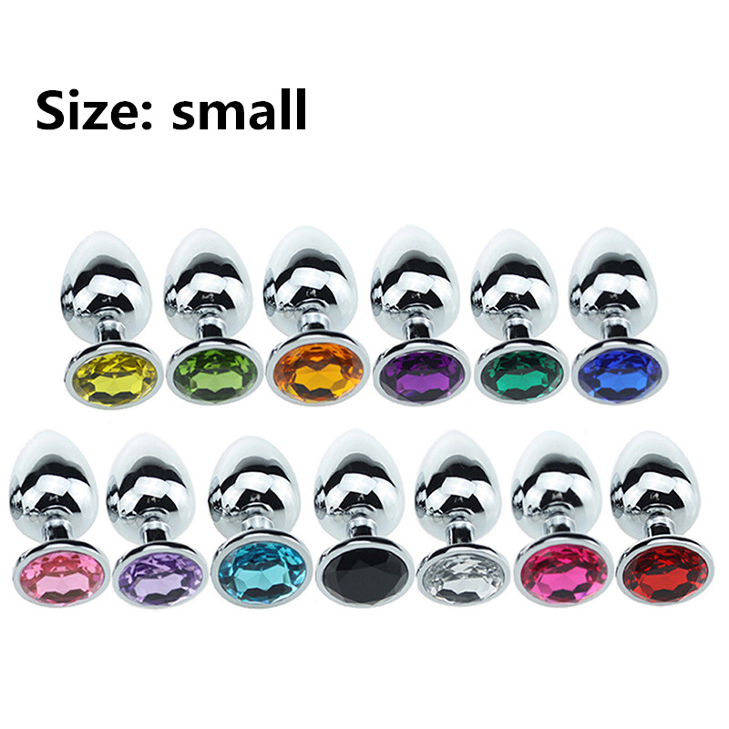 Electroplated Stainless Steel Anal Plug Crystal Jewelry Round Butt Plug Stimulator Sex Toys Dildo Anal Plug For Adult Game