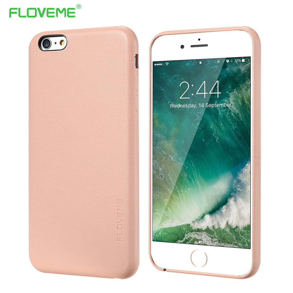 FLOVEME Phone Case For iPhone 7 Plus 8 Plus Fundas Coque Soft Coverage Silicone PU Leather Mobile Phone Cover Bags Accessories