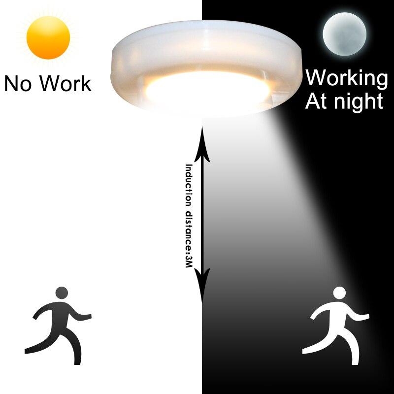 Luzes da Noite 6 pçs/set pir motion sensor Potência : 0-5 w