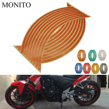 "La rueda de la motocicleta de 16 ""17"" 18 ""reflectante calcomanías borde cinta de tira para DUCATI Monster S2R 800, 821 797, 695, 696, 796, 400 M400(China)"