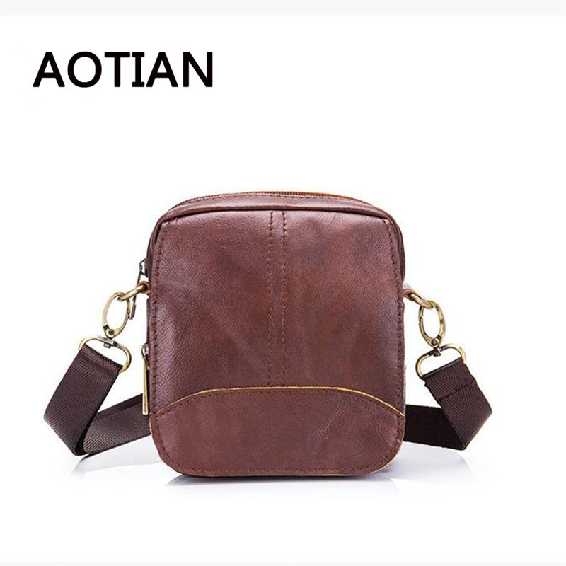Fashion Genuine Leather Handbag Men Shoulder Bag Business Flap Bag High Quality Casual Cow Leather Small Bags B