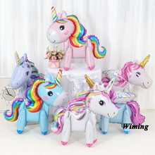 unicorn birthday decorations horse walking toys inflatable theme decoration party supplies animal balloons