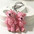 """Миниатюрные Крошечные Маленькие Сочлененных Teddy Bear 1.4 """"(3.5 см) Пятнистый Куклы Дом Ремесел Урсо Де Pelucia Осо розовый"""