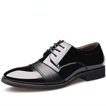 Willow Valley Men's Dress Shoes Patent Leather Lining Lace-Up Oxfords Pointed Toe Wedding Shoe