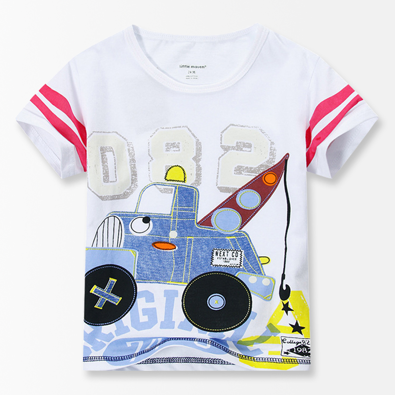 4bd1caf0 Cartoon Car print Baby Boys T Shirt Clothing 2017 Summer Fashion Brand Kids  clothes 100% Cotton boys Tops Boys clothes 18M 6T-in T-Shirts from Mother &  Kids ...