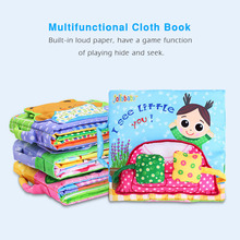 Children Early Education Plush Toy Animals Books 0-3 Years Interactive Soft Cloth Development Books