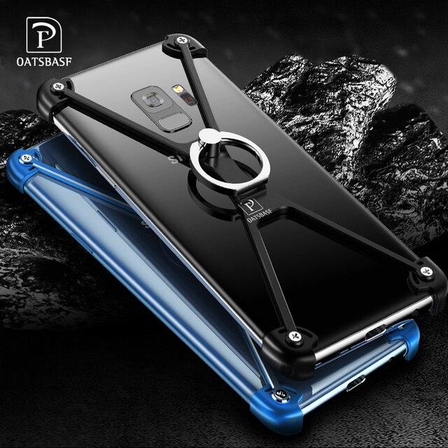OATSBASF X forme anneau porte étui pour Samsung Galaxy note8 personnalité coque en métal pare chocs étui anneau