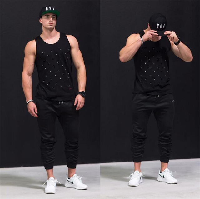 New Muscle body Casual Gyms pants shark engineers Hip Hop Trousers Fashion Harem Pants Fitness Men Joggers pants men golds