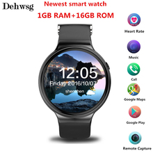 Newest IQI I4 Smart Watch Android 5.1 MTK6580 RAM 1GB ROM 16GB watch phone Heart Rate SmartWatch with 3G WiFi GPS Waterproof