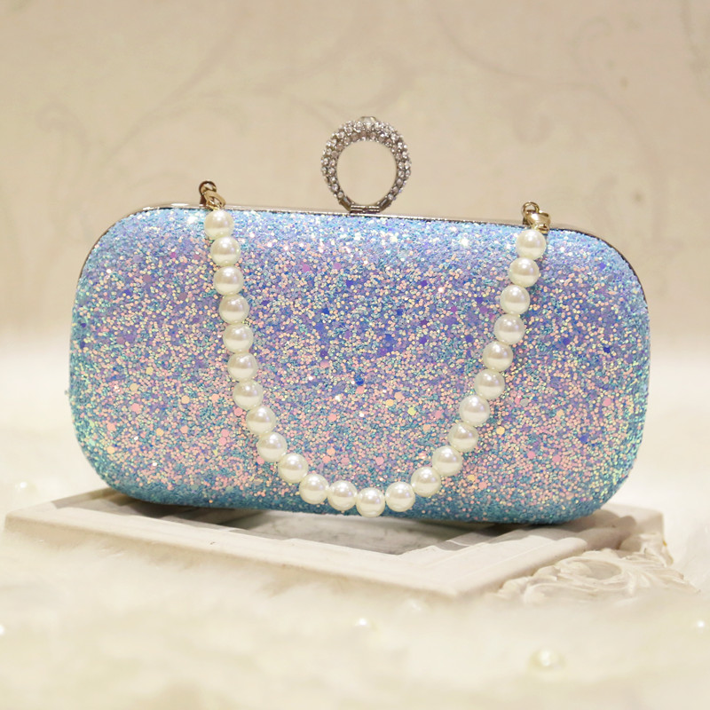 Mini Ring Women Chain Pearl Shoulder Bags Women Day Clutch Bags Ladies Evening Bag For Party Women Purses Wallet Hand Bag luxury knitting cheongsam clutch bag oval plaid evening bag famous brand day clutch chain shoulder messenger bag party purses