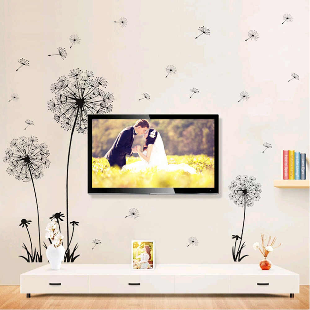 70*50 cm Dandelion naklejki ścienne Art salon sypialnia naklejki ścienne pcv dekoracje ścienne szczęśliwy prezent TV tle ściany naklejki