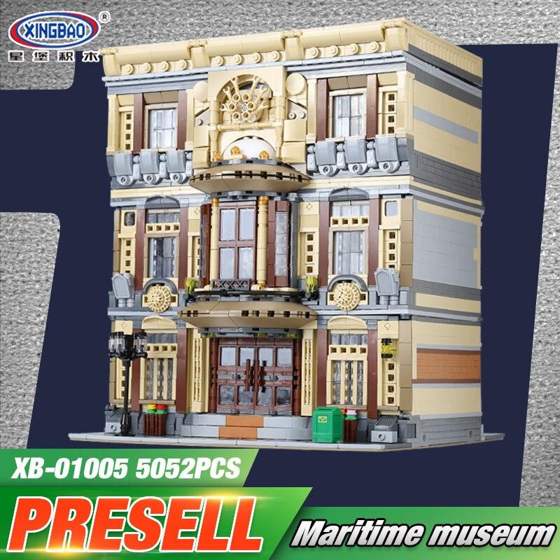 XingBao 01005 5052 шт. Подлинная Творческий город МОС серии морской музей набор детей строительные блоки кирпичи игрушечные модели, подарки