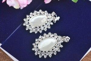 Image 5 - Женская свадебная тиара в стиле барокко, с белыми/черными кристаллами