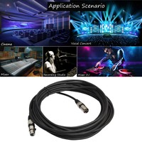 Ten Pieces Cable DMX 1.8 Meters With 3 Pin Signal XLR Male To Female Connector Support Microphone,Stage Light