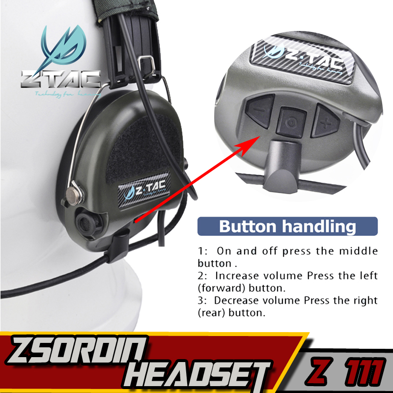 Z 111 Z taktiskt headset (Officiell version) anti-noise headset - Jakt - Foto 3