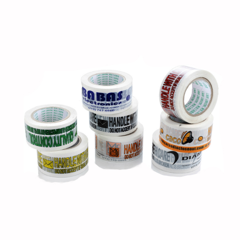 Free Logo Adhesive Tapes Sealed Custom Imprinted Logo On  Clear Transparent Sealing Sticky Tape 20 Rolls Free Ship By Fast DHL