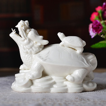 Leading turtle ceramic ornaments Feng Shui crafts of modern Chinese Home Furnishing jewelry