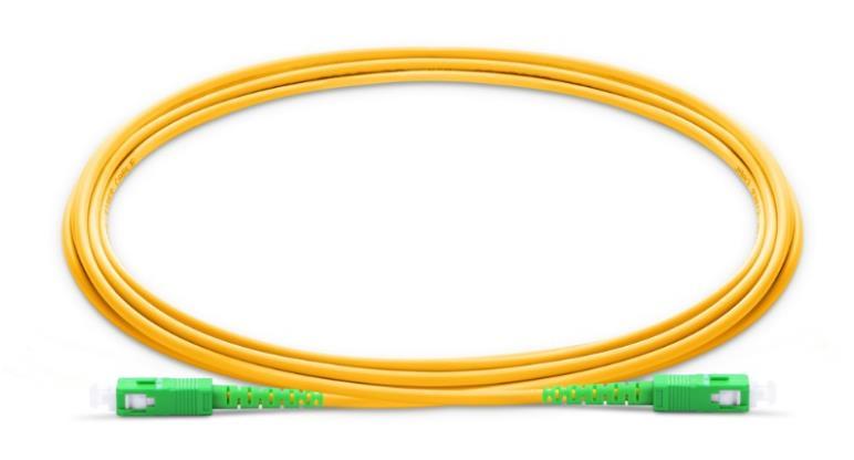 5m SC APC to SC APC Fiber Patch Cable G657A Simplex 2 0mm PVC Singlemode Bend Insensitive Ftth Fiber Jumper Optic Patchcord in Fiber Optic Equipments from Cellphones Telecommunications