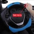 Cubierta del volante del coche transpirable agujero de excavación de antideslizante, hubs volante 38 CM/15 ''Anti-catch Holder Protector