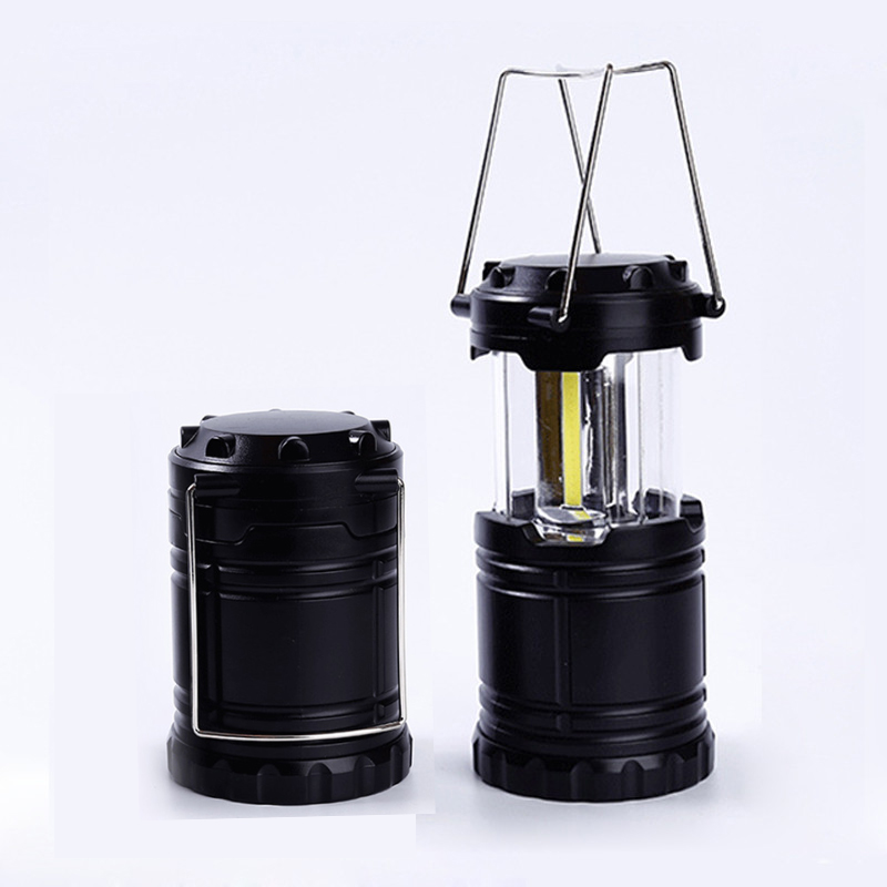 все цены на Portable ABS COB Lantern Camping Light with handle Collapsible Camping lanterns COB LED Tent Lights for Hiking Camping