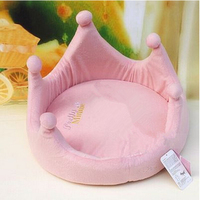 2016 New Luxury honourable Cute Pet Dog Cat Princess Bed Nest Washable Small Dog Warm House Kennel Mini Puppy Sofa Free shipping