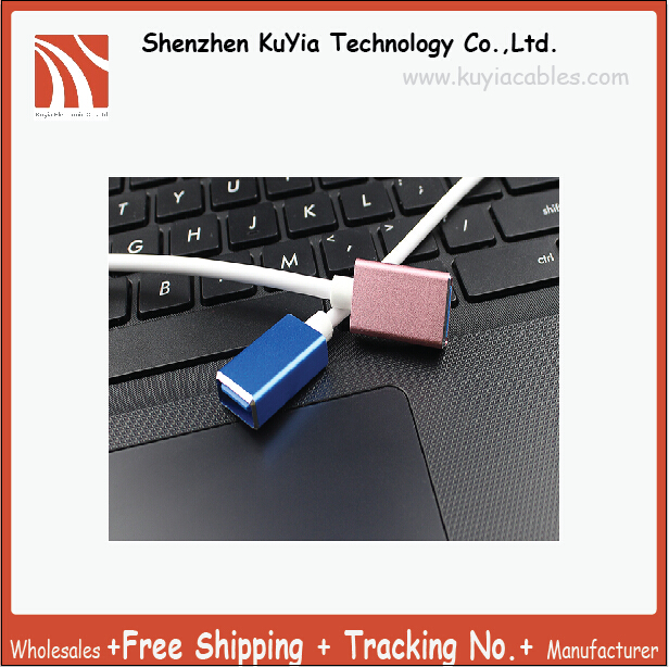 Free Shipping+High Quality USB 3.1 Type-C to USB 3.0 female OTG data line Mac Book extended USB OTG adapter
