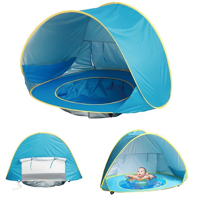 Baby Beach Tent Uv Protecting Sunshelter With Pool Waterproof Pop Up Awning Portable Children S