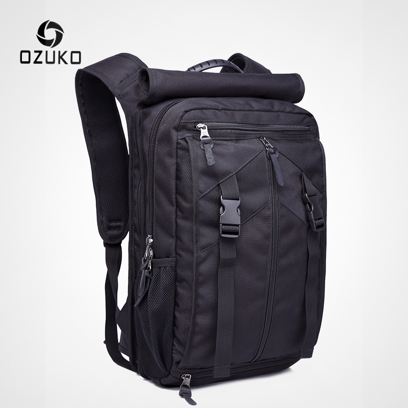 OZUKO Men 15.6 Laptop Backpacks Large Capacity Casual Backpack For Teenager Waterproof Oxford Outdoor Camping Travel Bag Mochila