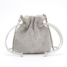 Women Mini Sequin Bucket Shoulder Bag Chain Evening Party Messenger Bag for Girls Crossbody Bag Female Handbag bolsa feminina цена и фото