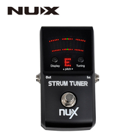 NUX Strum Tuner Polyphonic Strum Pedal Tuner Tuning Pedal Electric Acoustic Guitar Bass Multi String Guitar